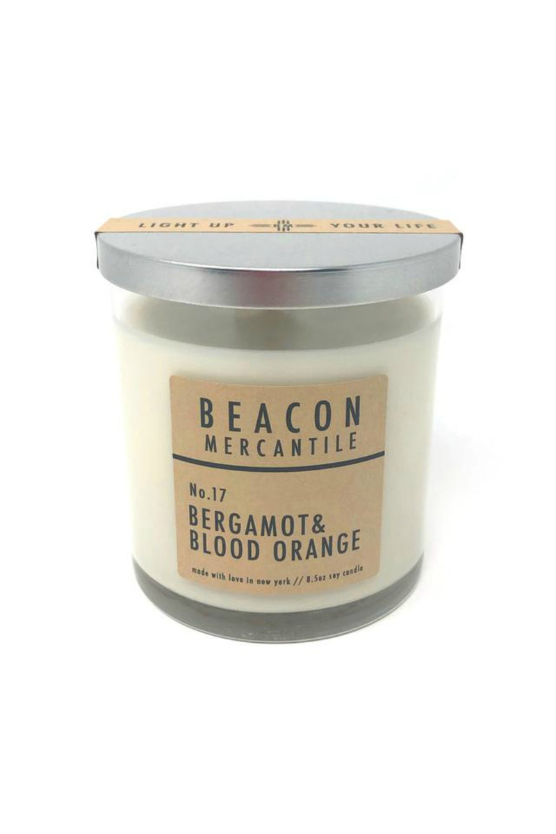 Beacon Mercantile 8.5 oz. Soy Candle - Bergamot + Blood Orange