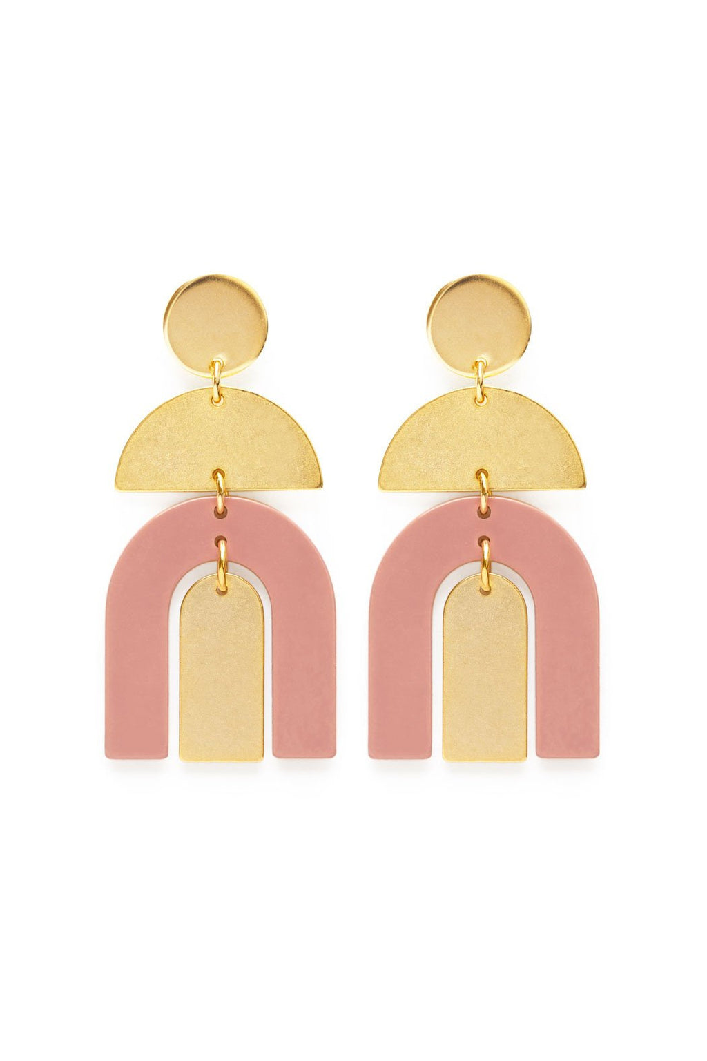 Amano Studio Moab Arches Earrings - Blush
