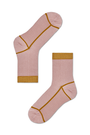 Happy Socks Lily Crew Sock - Blush