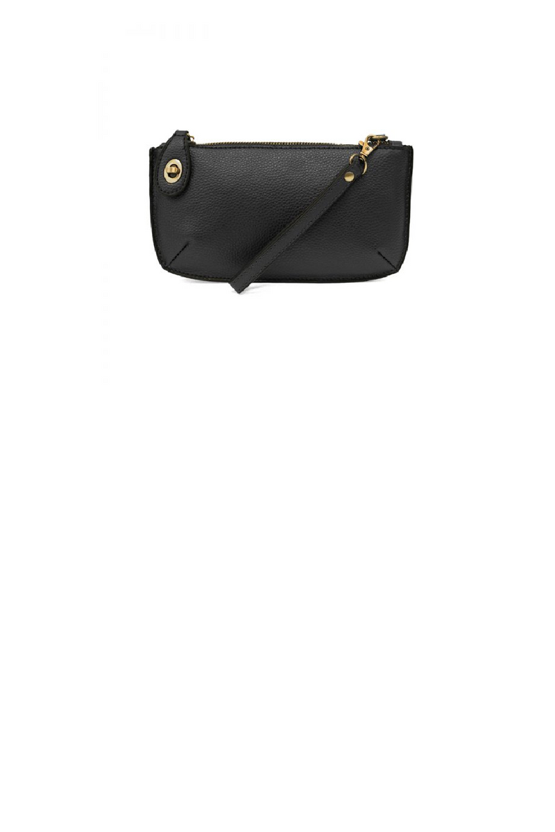 Mini Crossbody Wristlet- Black