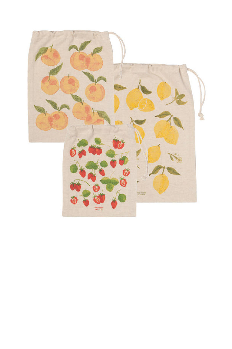 Now Designs Produce Bag - Set of 3 - Fruit Salad