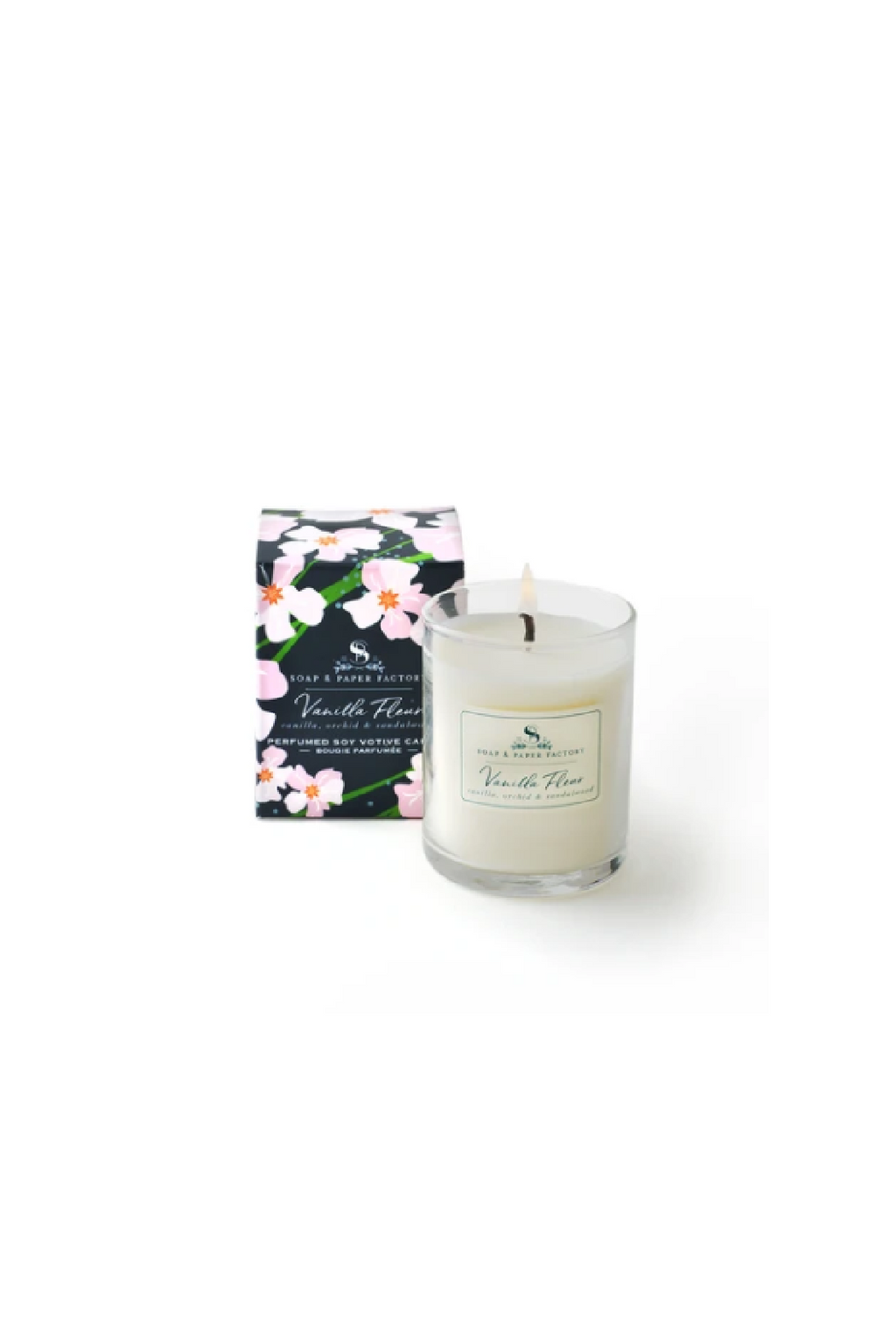 The Soap & Paper Factory Vanilla Fleur 2.4 oz. Votive Candle