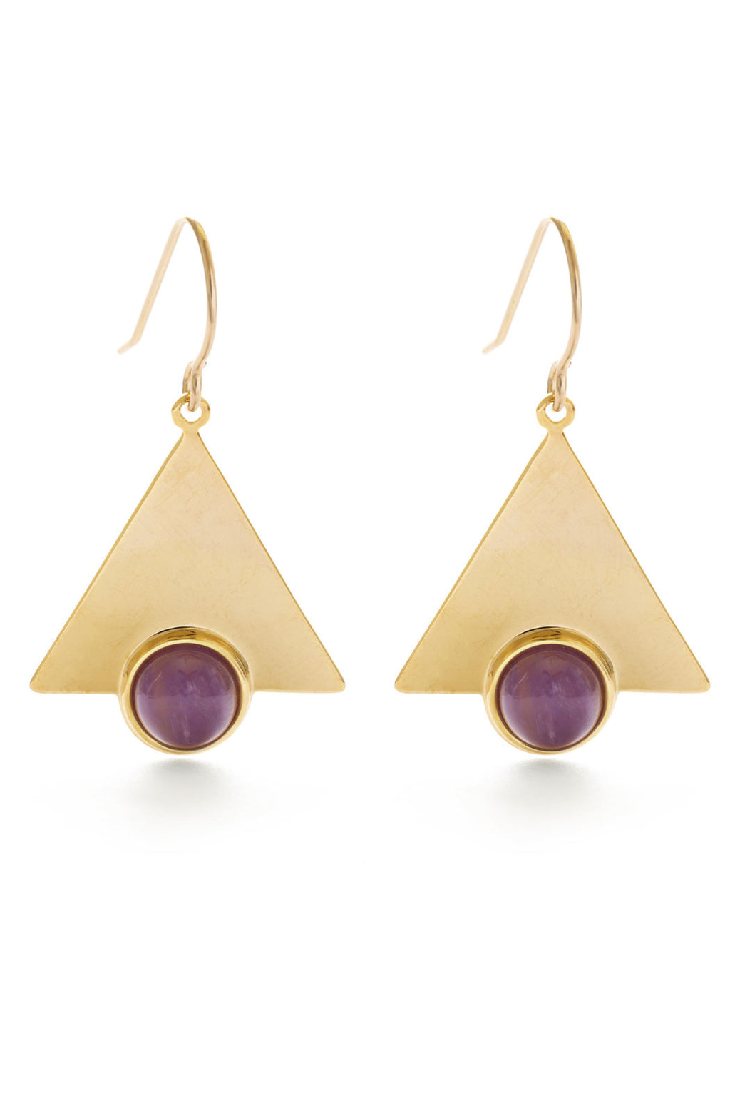 Amano Studio Mystic Triangle Earrings - Amethyst