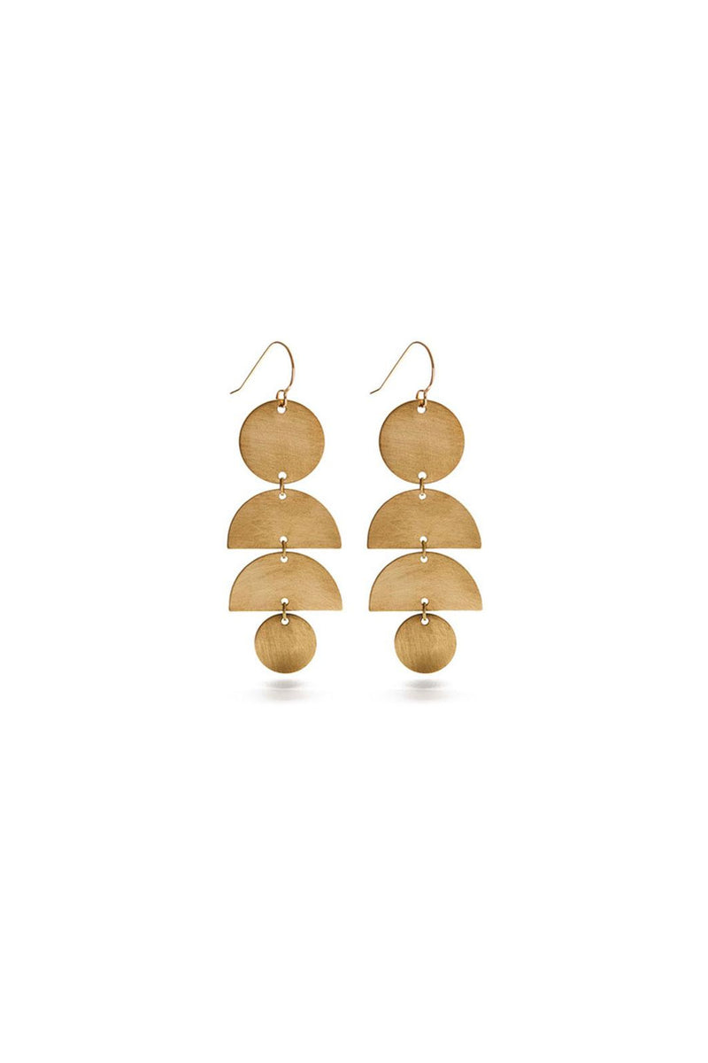 Amano Studio Half Moon Stack Earrings - Brass