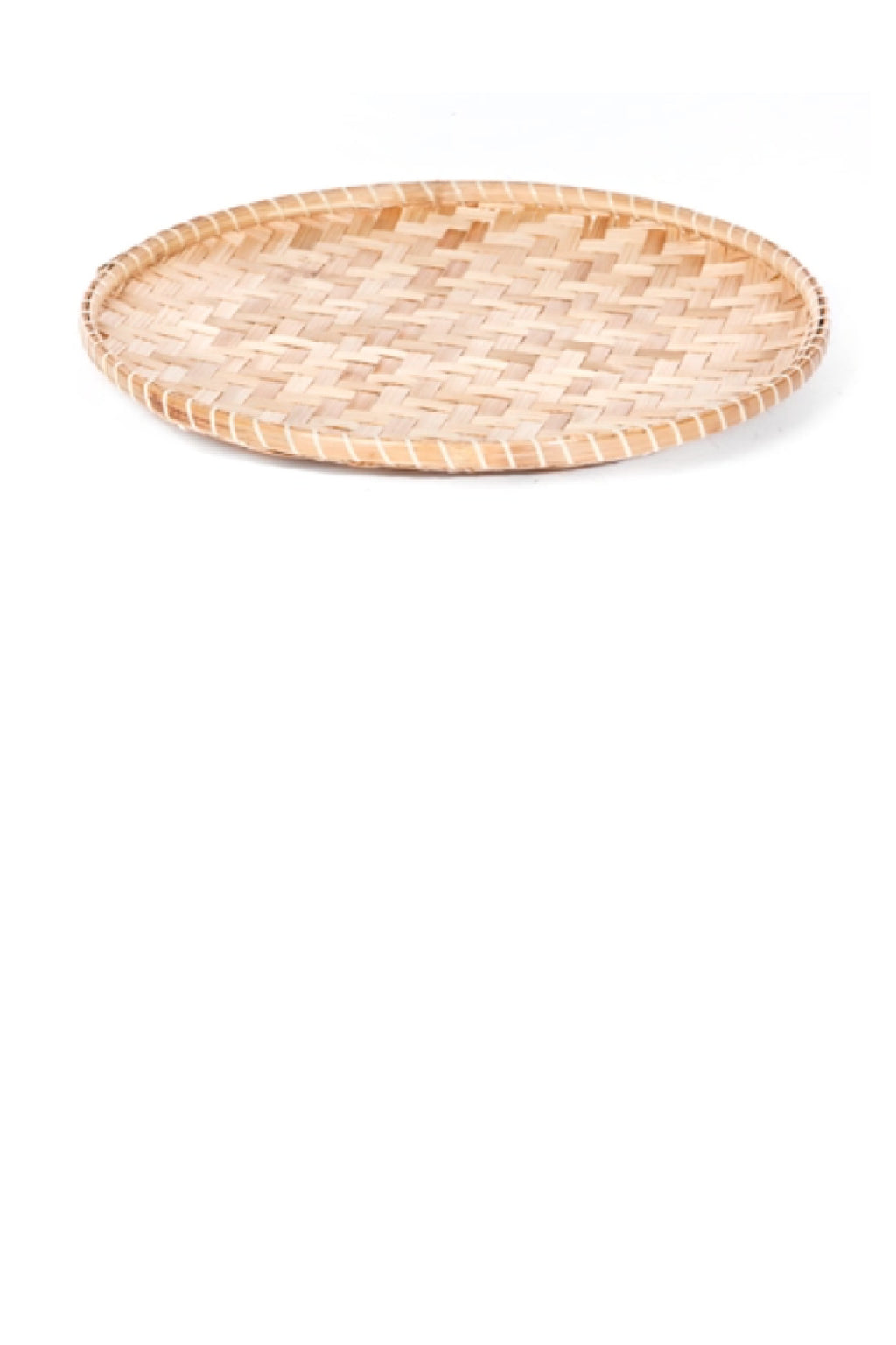 Willow Group Round Bamboo Tray - 11""