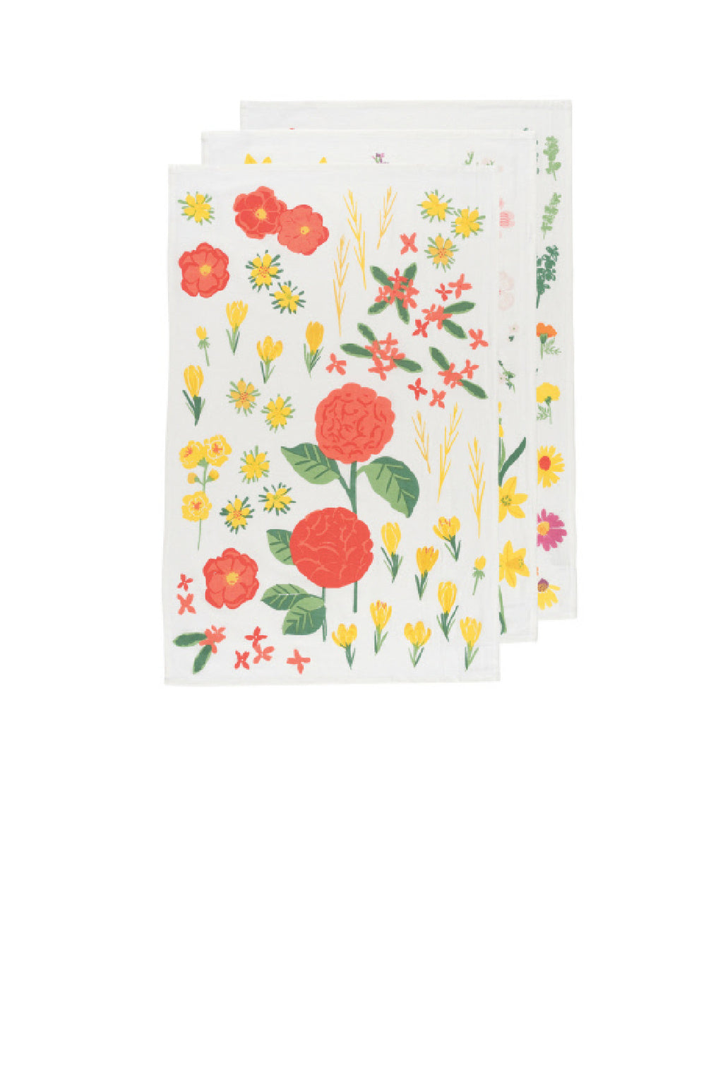 Now Designs Floursacks - Set of 3 - Flowers Month