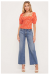 Olivia Top - Coral Red