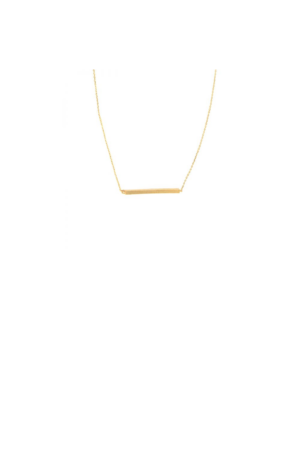 Textured Bar Necklace - Gold