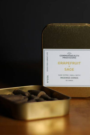 Commonwealth Provisions Incense Cones - Grapefruit + Sage