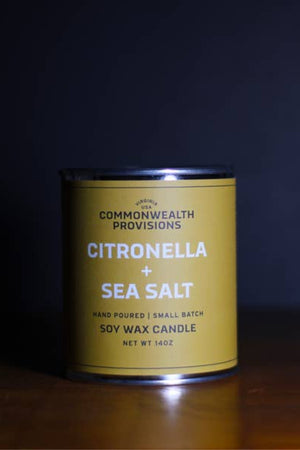 Commonwealth Provisions Candle - Citronella + Sea Salt