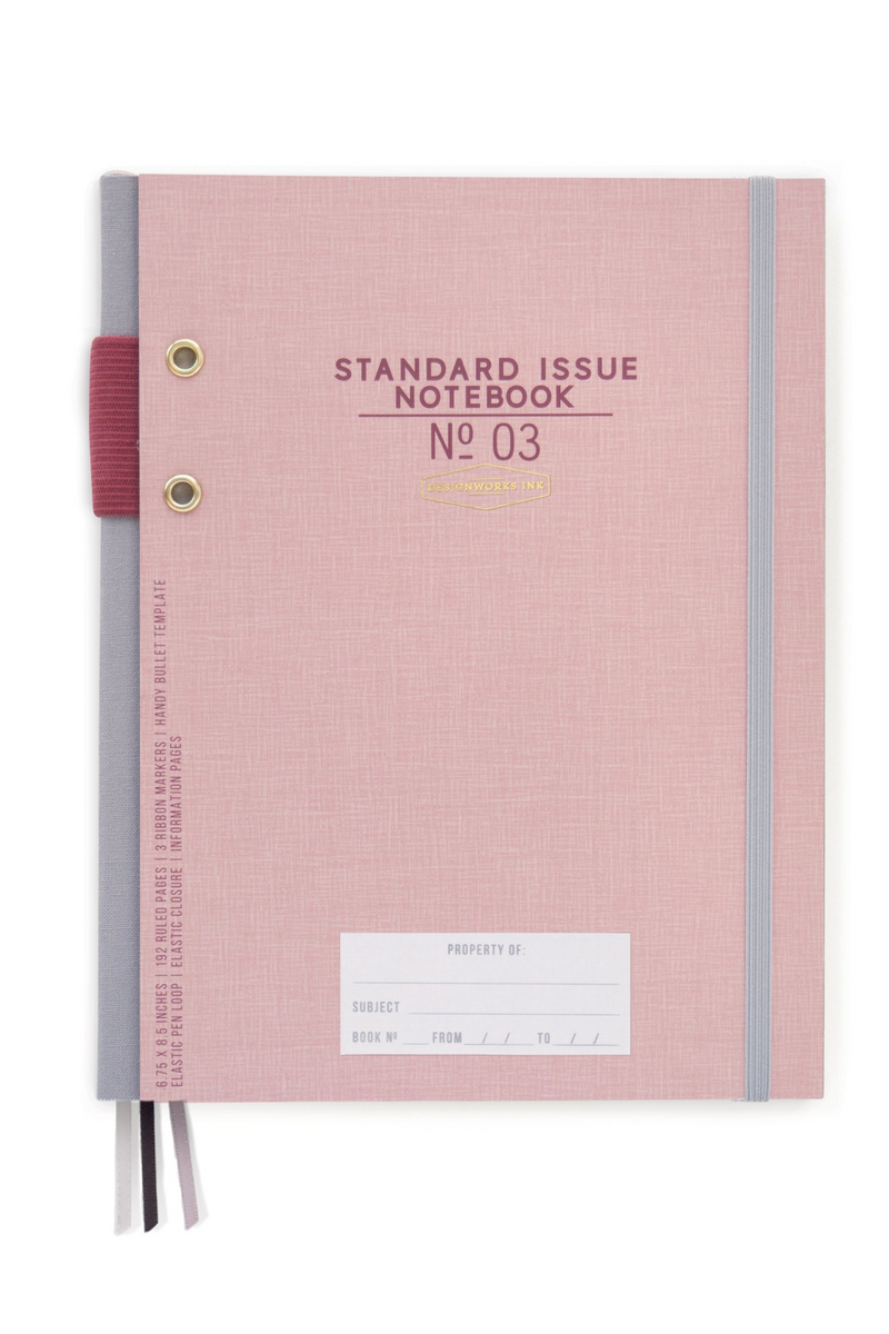 Designworks Ink Hardcover Fabric Spine Notebook - Dusty Pink