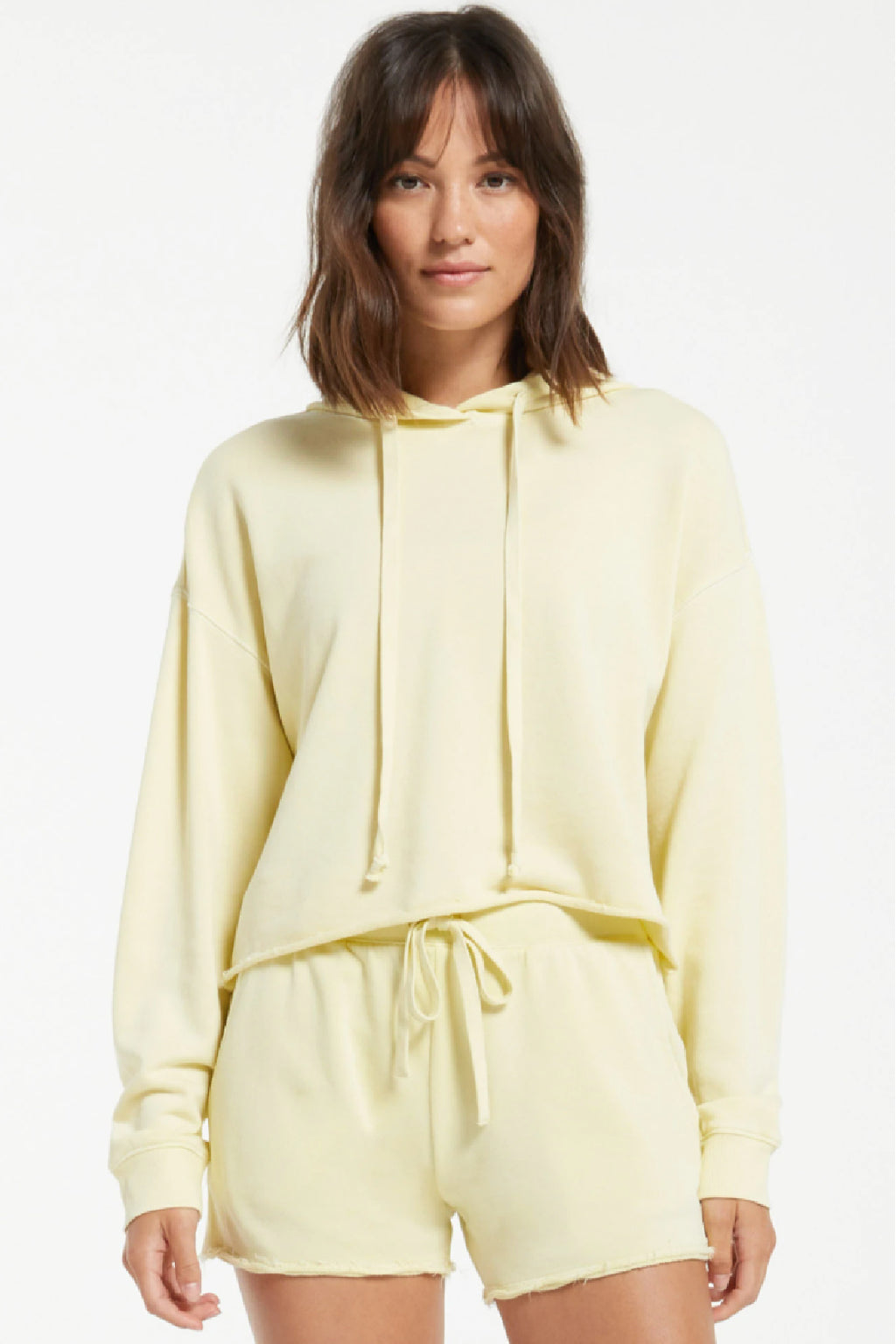 Z Supply Gia Washed Hoodie in Key Lime