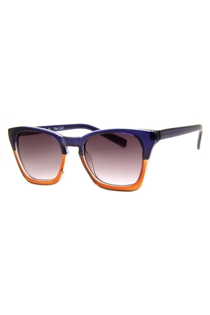 Reporting Sunnies - Blue/Brown