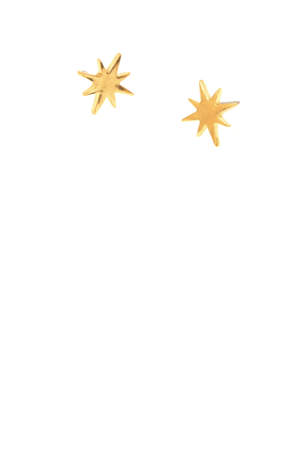 Starburst Post Earrings - Gold