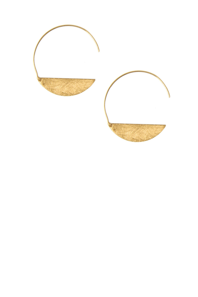 Threader Moon Earring - Gold