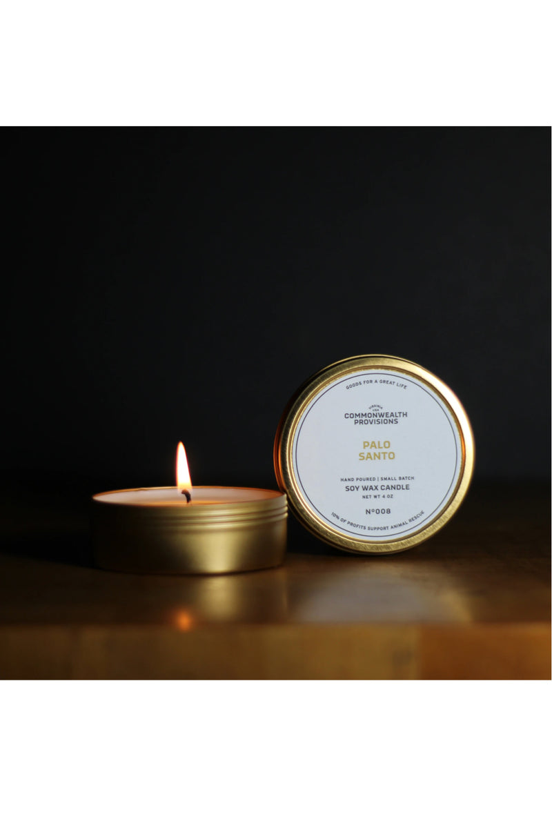 Commonwealth Provisions Travel Candle - Palo Santo