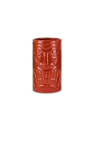 Ceramic Tiki Mug - Red