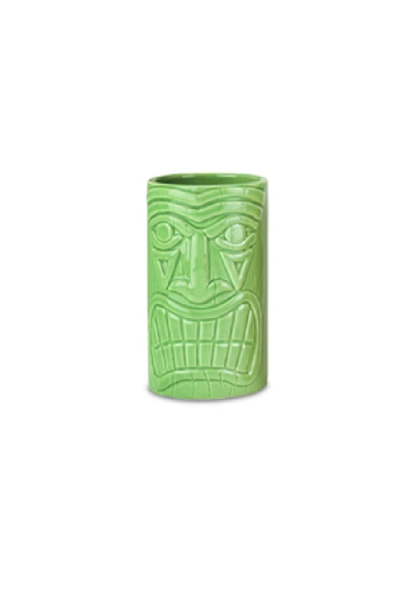 Ceramic Tiki Mug - Green