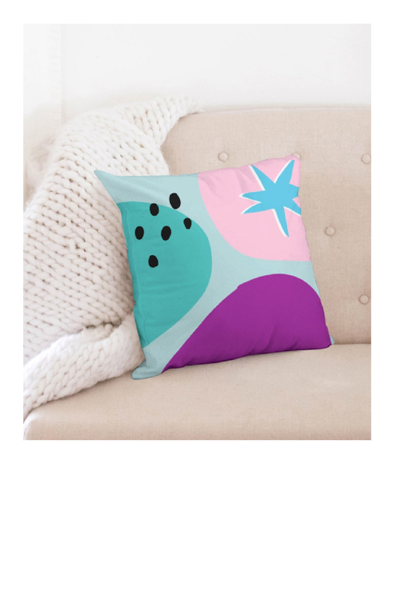 Funk Du Jour Abstract Groove Throw Pillow