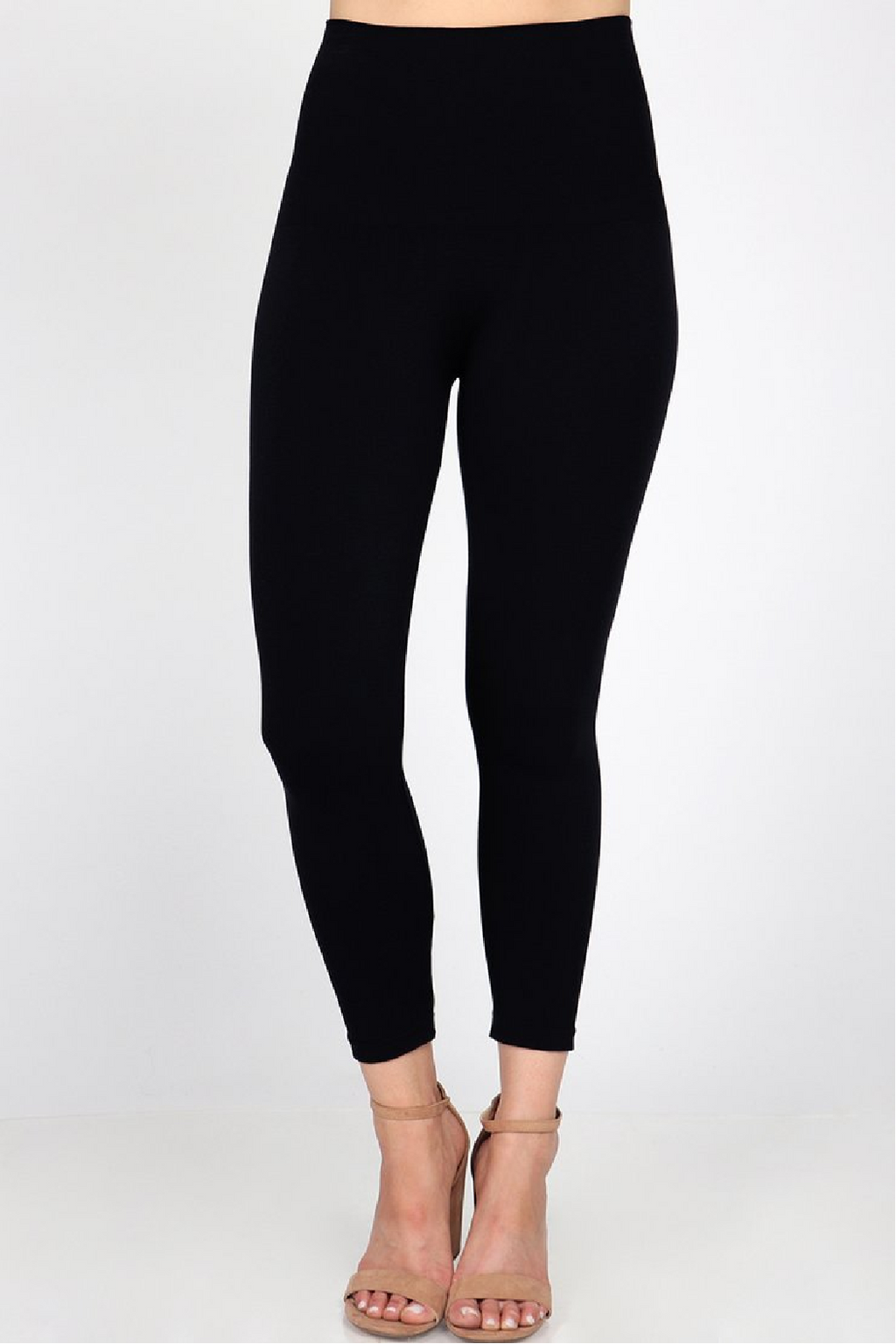 M.Rena Cropped Tummy Tuck Legging - Black