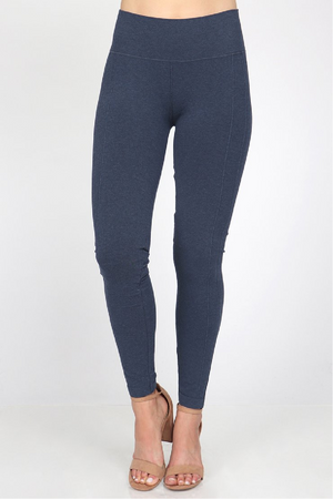 M.Rena High Waist Pintuck Legging - Blue