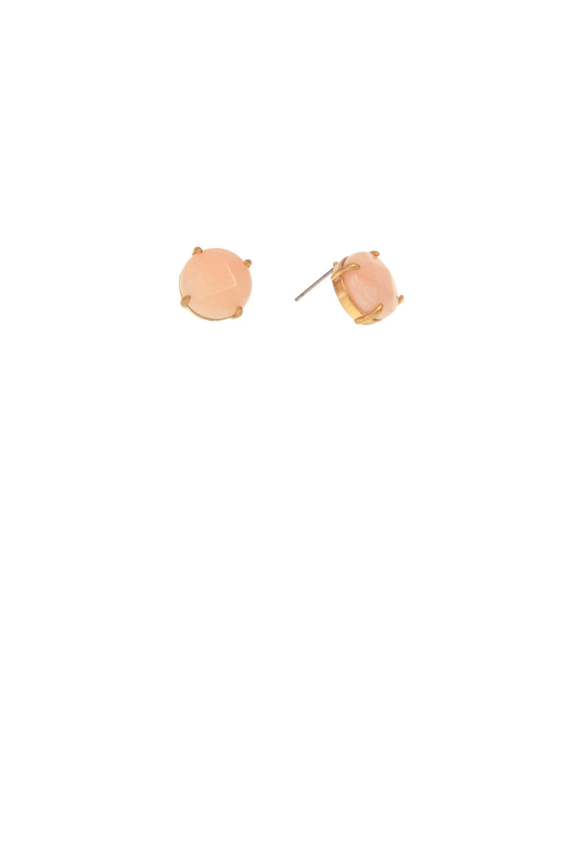 Natural Stone Earring - Rose Quartz