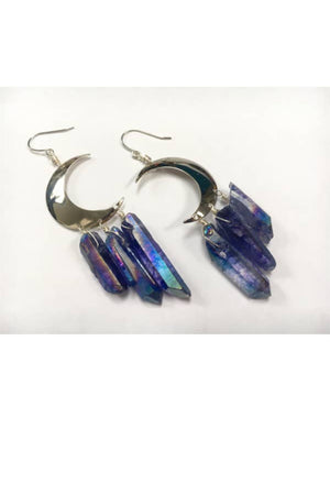 Odyssey & Oddities Periwinkle Quartz Silver Earrings
