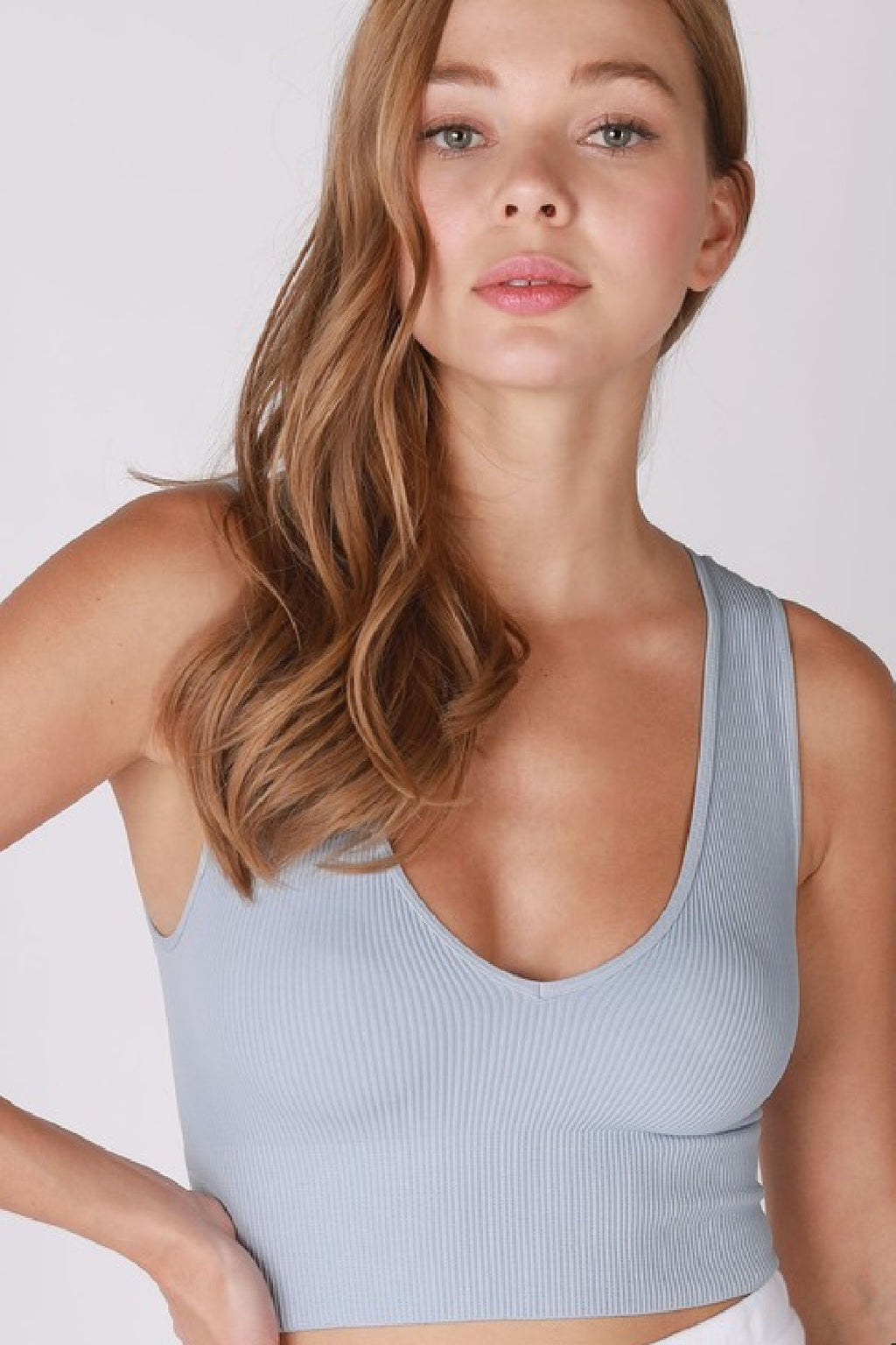 Crop Top - Powder Blue