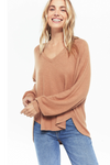 Z Supply Plira Slub Sweater - Salted Caramel