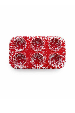 Crow Canyon Home Muffin Tin - Red Splatter