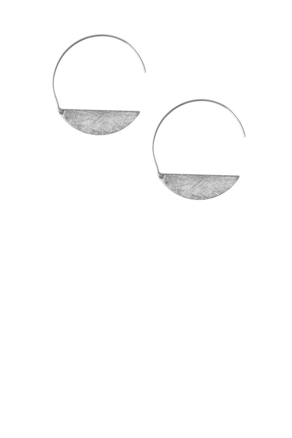 Threader Moon Earring - Silver