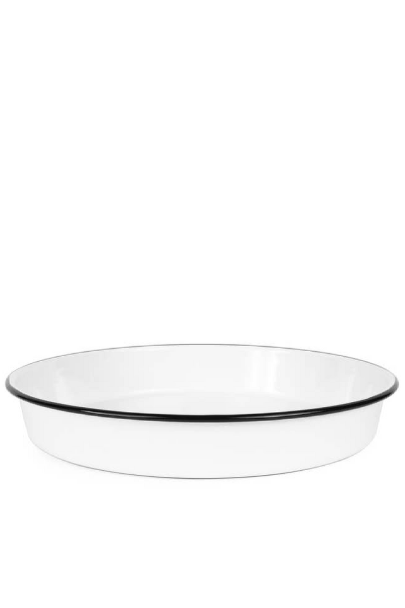 Crow Canyon Cocktail Tray / Pizza Pan - Black & White