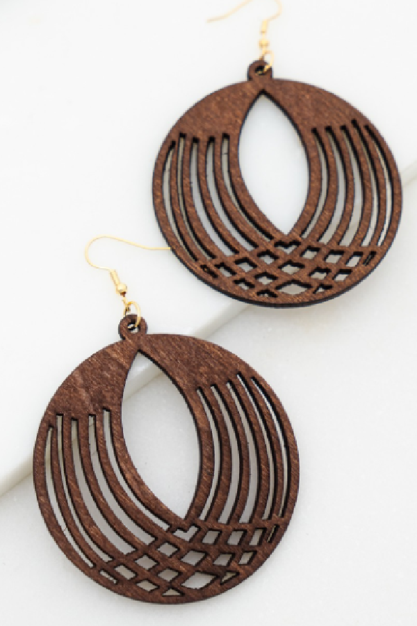 Filigree Wood Earrings