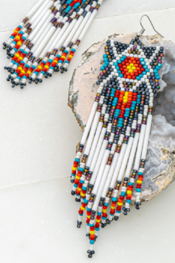 Boho Beaded Seedbead Earrings