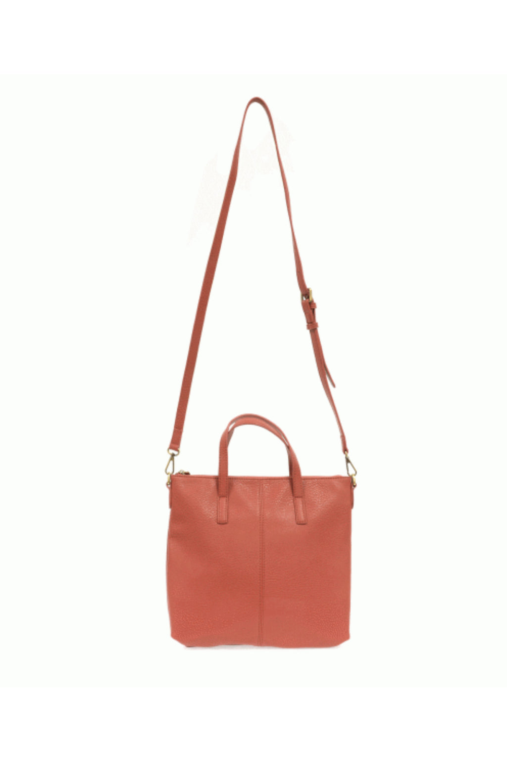 Joy Susan Kim Top Zip Tote - Coral