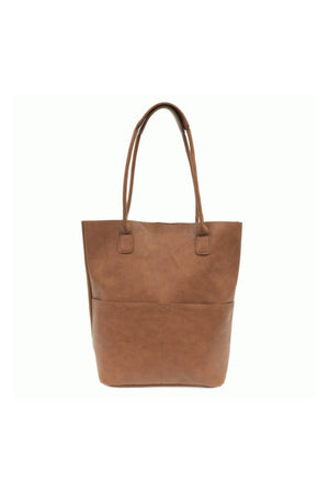 Joy Susan Kelly North South Front Pocket Tote - Saddle