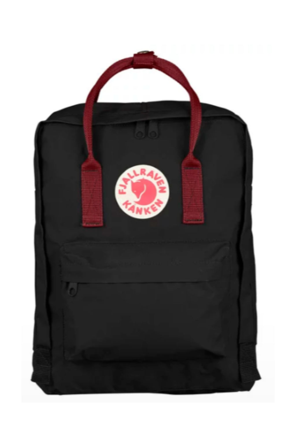 Fjällräven Kånken Backpack in Black/Ox Red