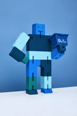 Areaware Cubebot Capsule Collection Micro by David Weeks -  Blue Multi