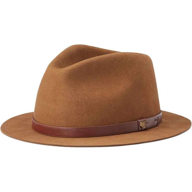 Brixton Messer Short Brim Fedora - Coffee