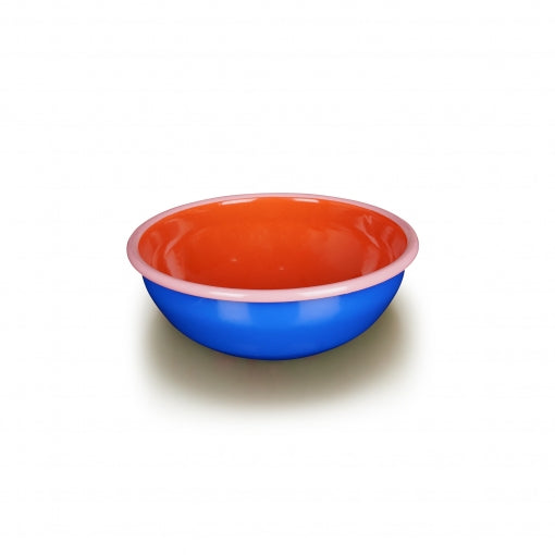 Bornn Enamelware Colorama 24 oz. - Electric Blue/Coral