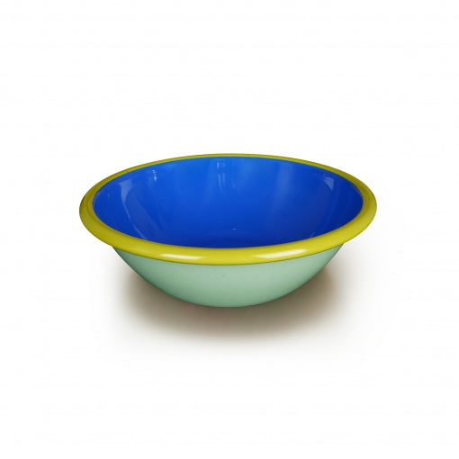 Bornn Enamelware Colorama 1.25 Qt. Serving Bowl - Mint/Electric Blue