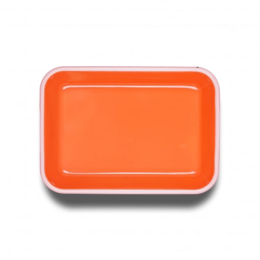 Bornn Enamelware Colorama Lg. Deep Rectangle Dish- Coral