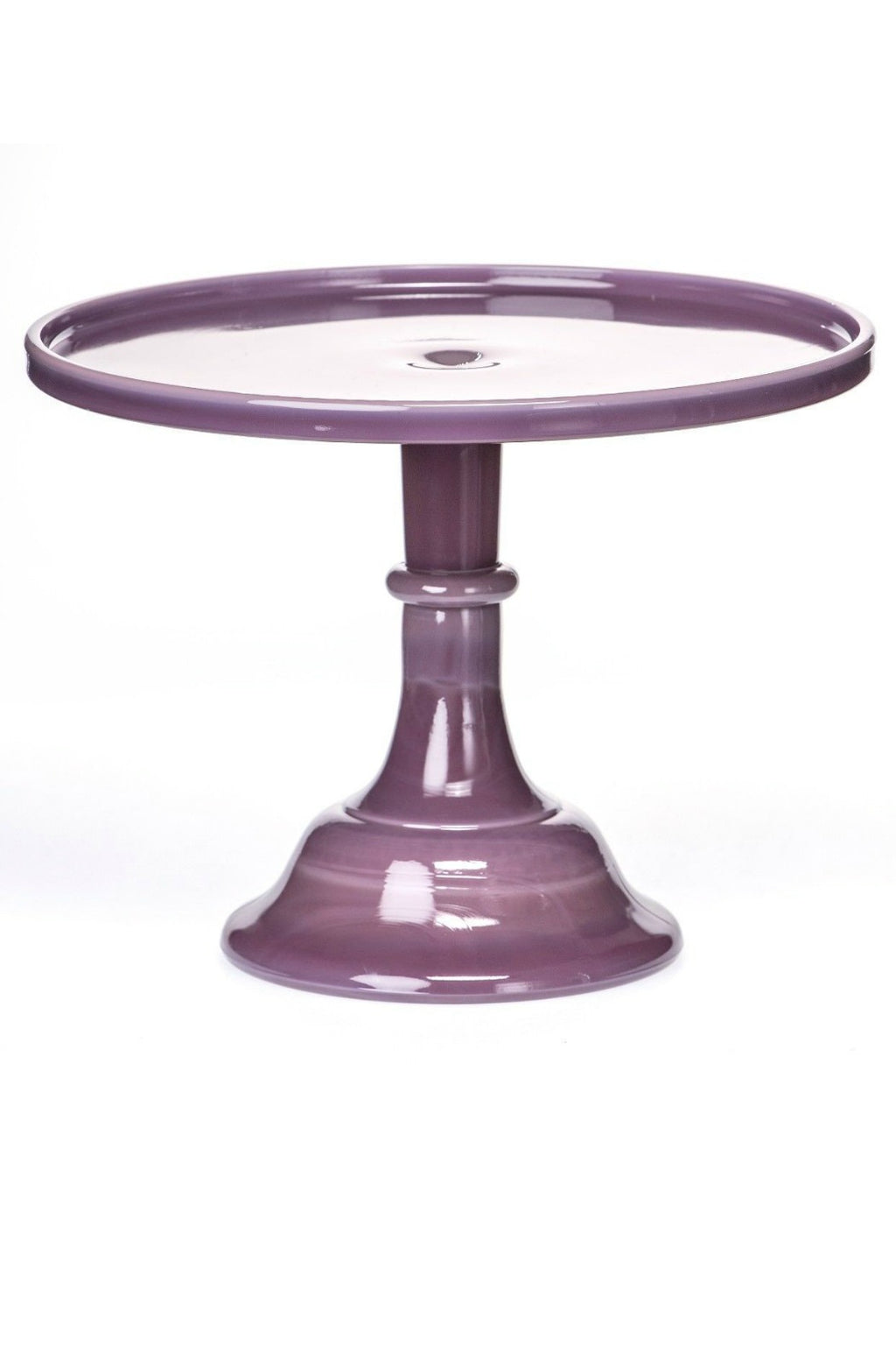 "Mosser Glass Cake 10"" Pedestal in Eggplant"