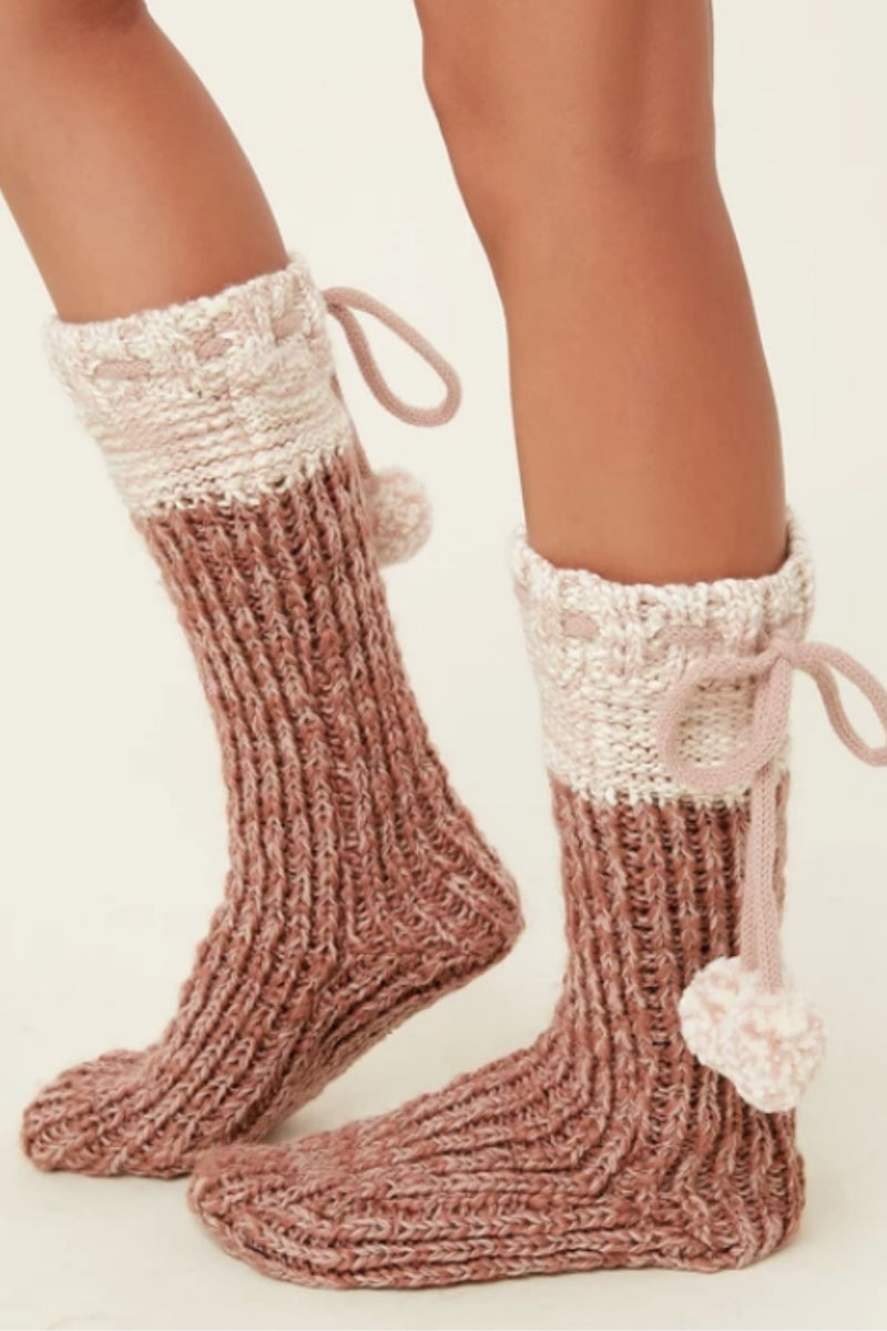O'Neill Carmel Slipper Sock - Blush