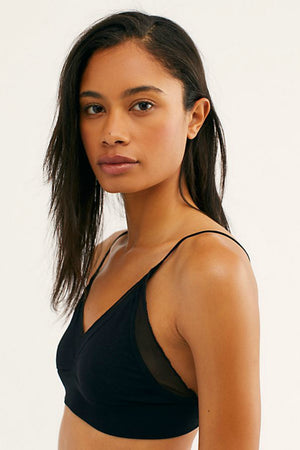 Free People Charlee Bralette in Black