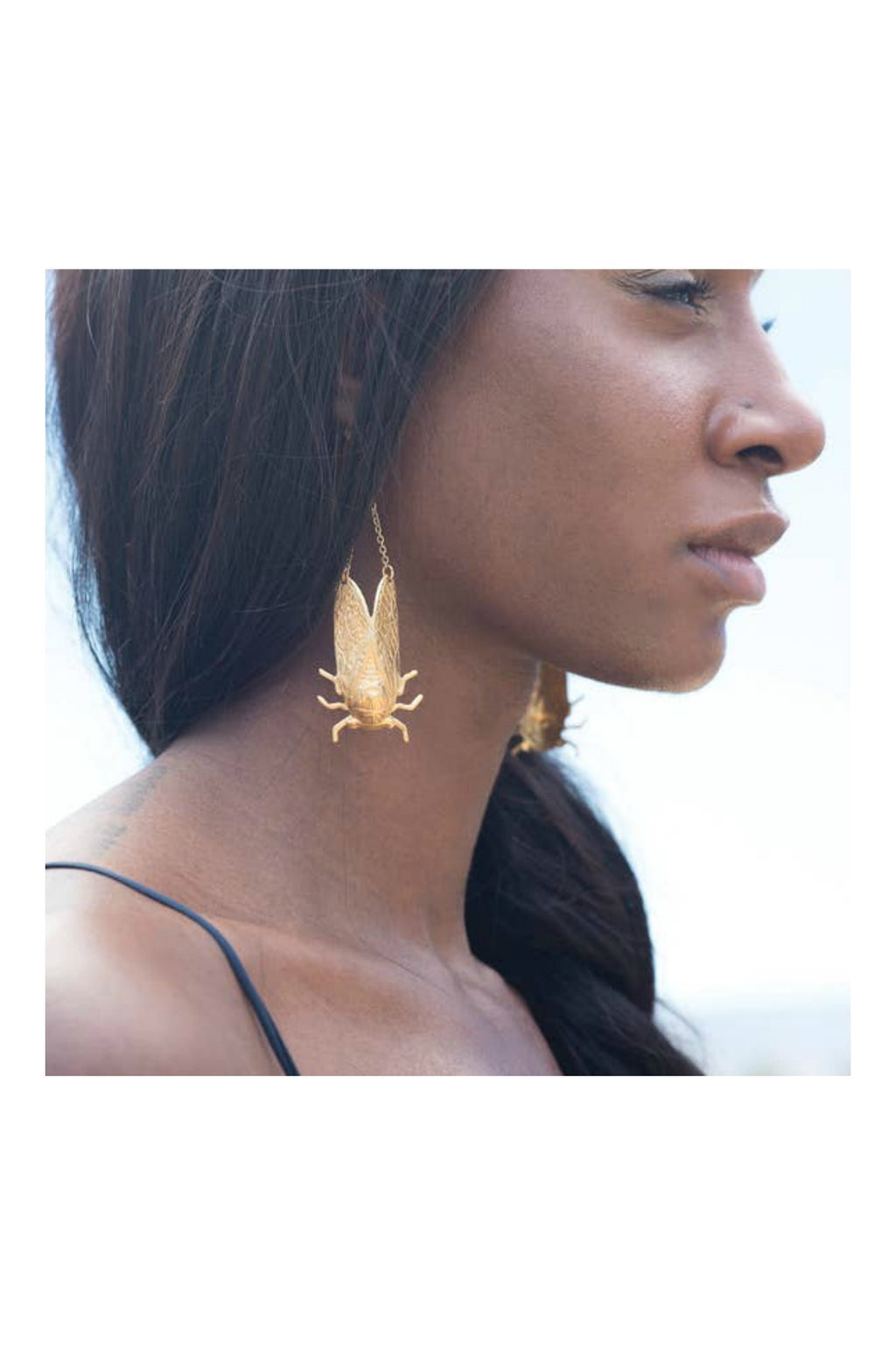 Larissa Loden Cicada Earrings - Brass