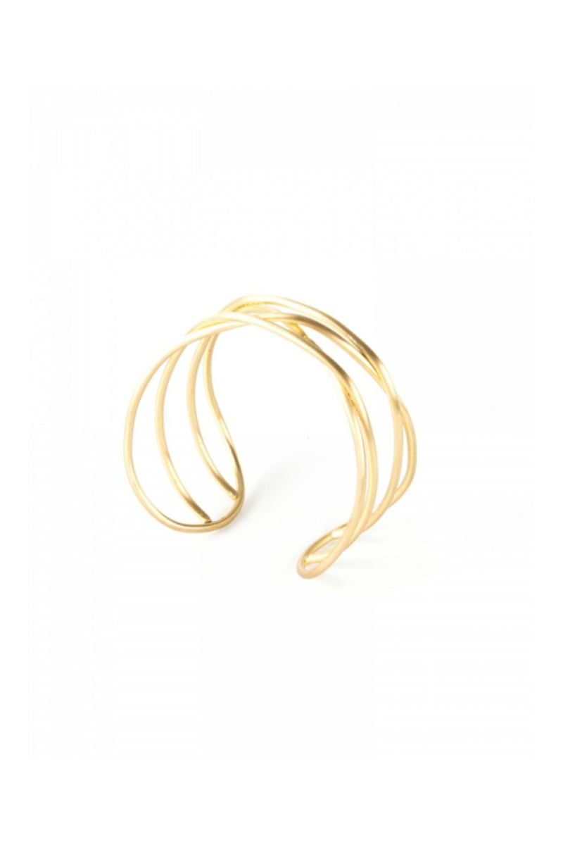 Mata Traders Cohesion Cuff in Gold