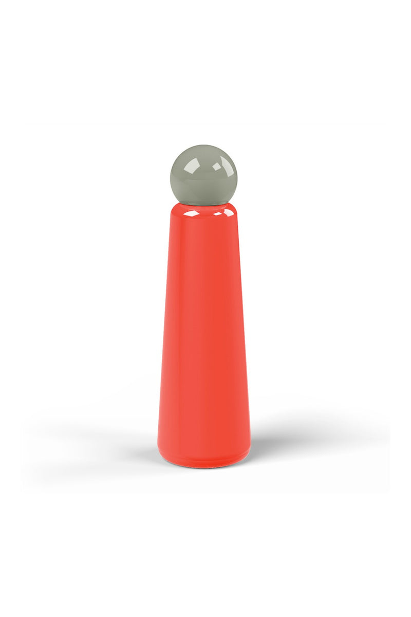 Lund London Skinny Bottle Jumbo - Coral & Dark Grey