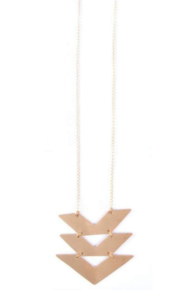 Mata Traders Cropped Chevron Necklace in Gold