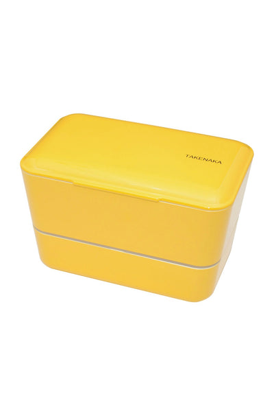 Takenaka Double Expanded Bento Box in Daffodil Yellow